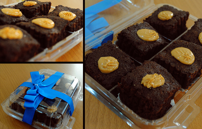 Dulce y delicioso! Paga RD$80 por 6 unidades de Mini Brownies con triple chocolate y topping de dulce de leche en Splenger Party